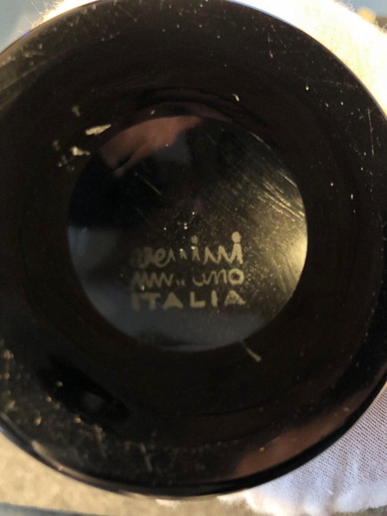 Mid-Century Modern Vintage Venini Murano Fulvio Bianconi Double Incalmo Blown Glass Vase For Sale