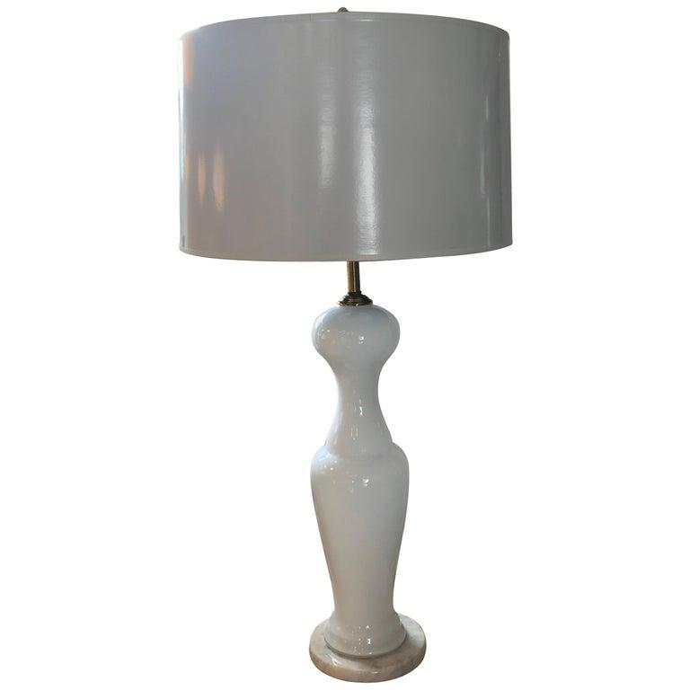 Vintage Venini Murano Table Lamp For Sale