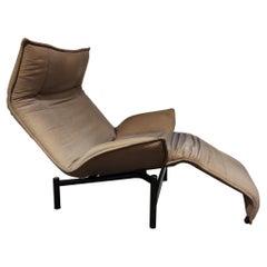 Vintage Veranda Lounge Chair by Vico Magistretti for Cassina, 1980s