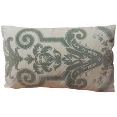 Vintage Verdigris Gaufrage Petite Lumbar Pillow