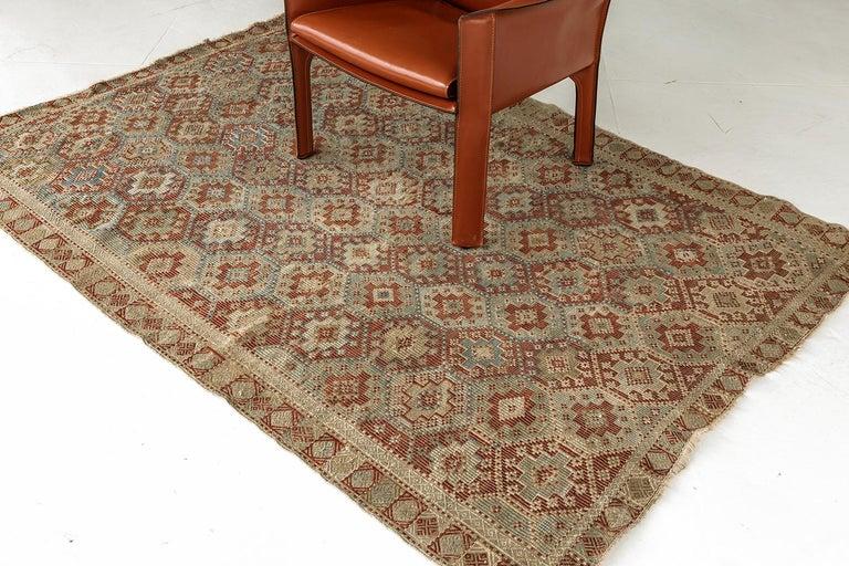 Persian Vintage Verneh Flat-Weave Kilim Rug For Sale