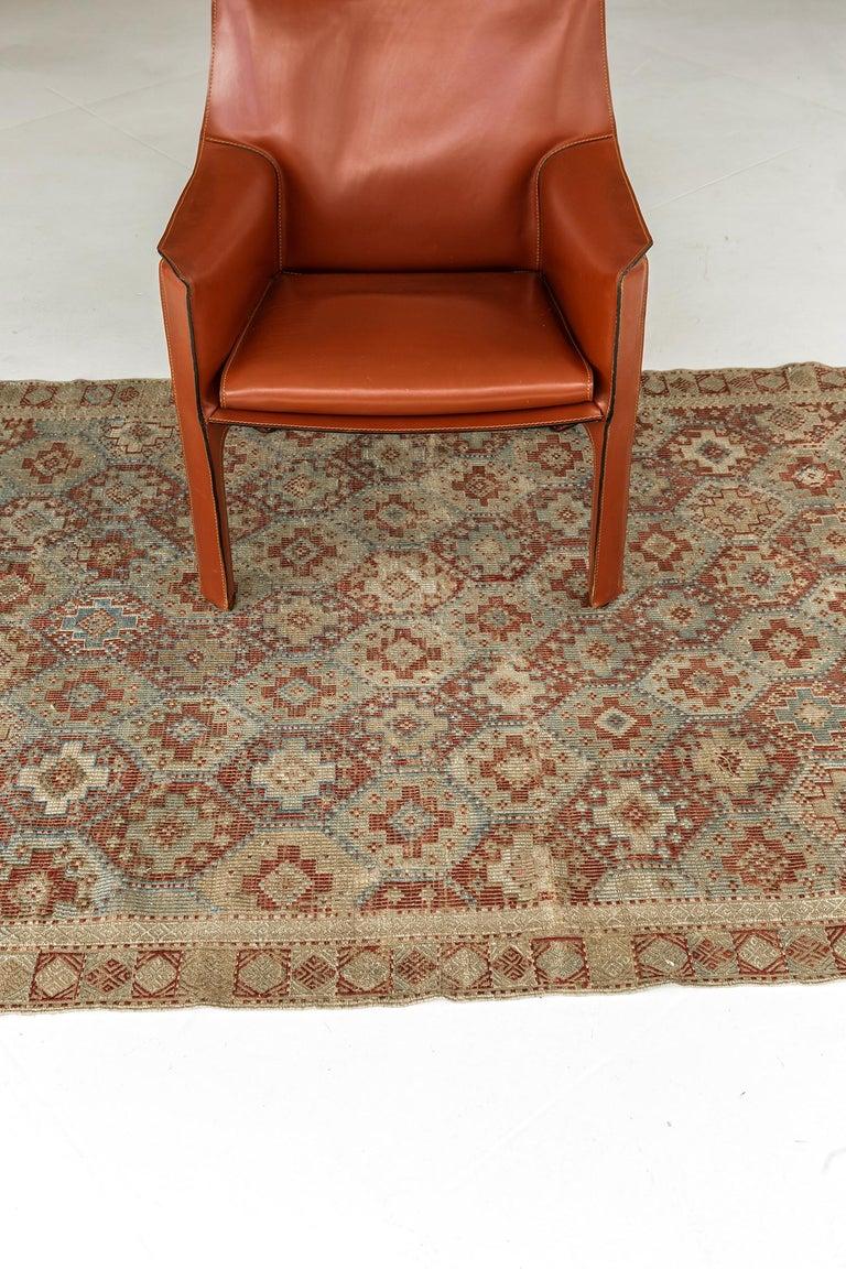 Hand-Knotted Vintage Verneh Flat-Weave Kilim Rug For Sale