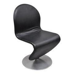 Vintage Verner Panton 1-2-3 System Chair Fritz Hansen Black Mid-Century Modern