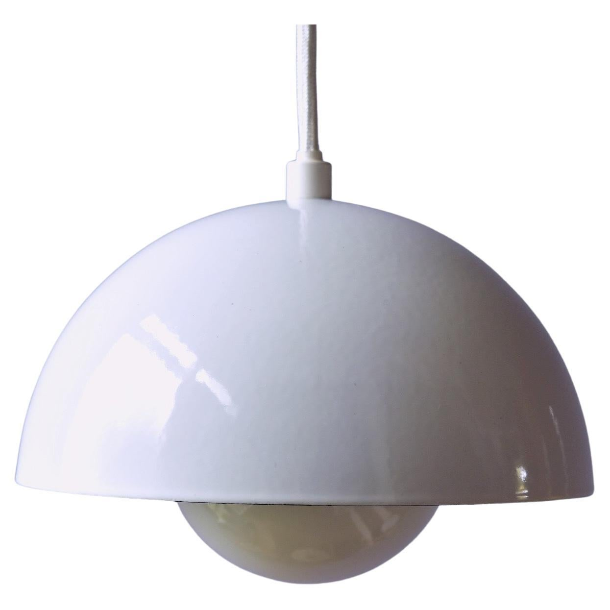 Vintage Verner Panton Enamel Flowerpot Pendant Lamp by Louis Poulsen, Denmark