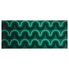 Vintage Verner Panton Kurve Textile in Green