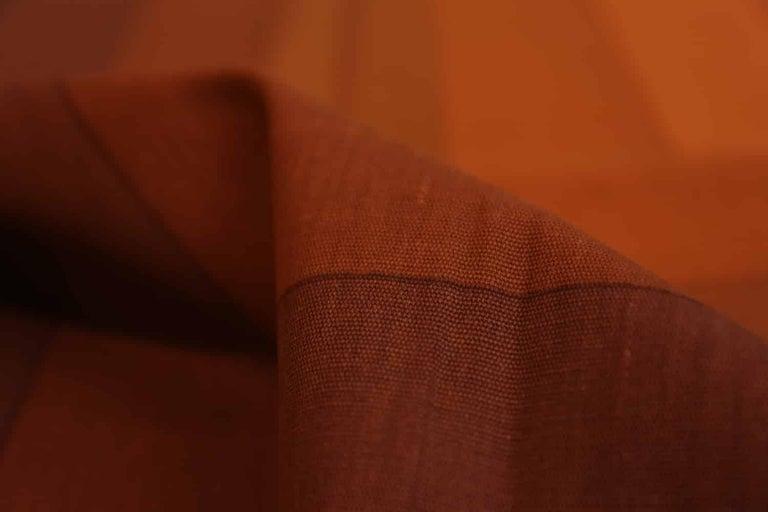 Mid-Century Modern Vintage Verner Panton Quadrat Textile in Orange. Size: 4 ft 2 in x 7 ft 10 in For Sale
