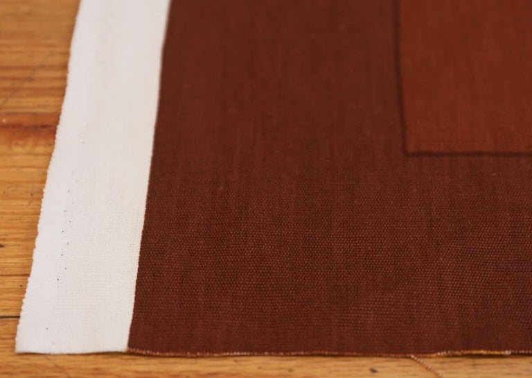 Danish Vintage Verner Panton Quadrat Textile in Orange. Size: 4 ft 2 in x 7 ft 10 in For Sale