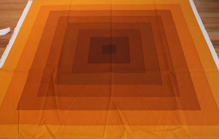 Machine-Made Vintage Verner Panton Quadrat Textile in Orange. Size: 4 ft 2 in x 7 ft 10 in For Sale