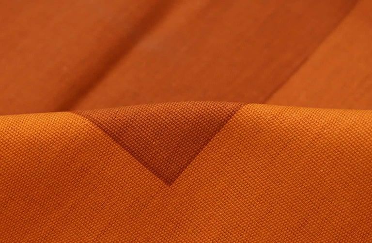 Cotton Vintage Verner Panton Quadrat Textile in Orange. Size: 4 ft 2 in x 7 ft 10 in For Sale
