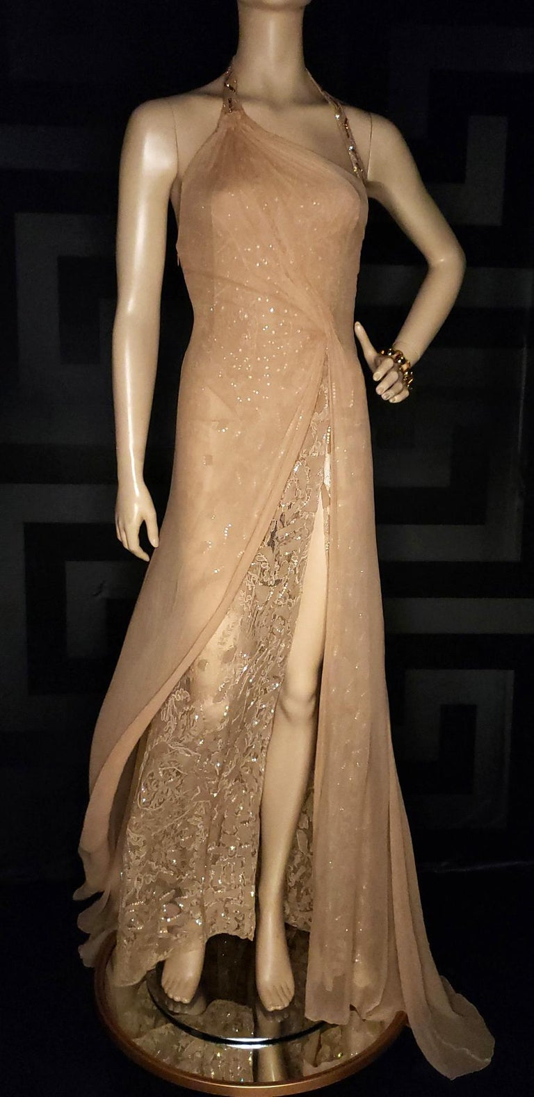 Vintage Versace Atelier Embellished Gown For Sale 2