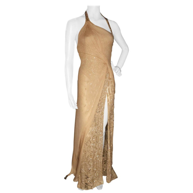 Vintage Versace Atelier Embellished Gown For Sale