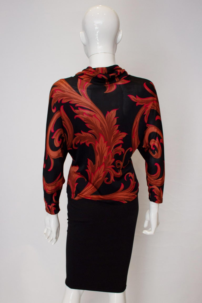 Vintage Versace Couture Top In Good Condition For Sale In London, GB