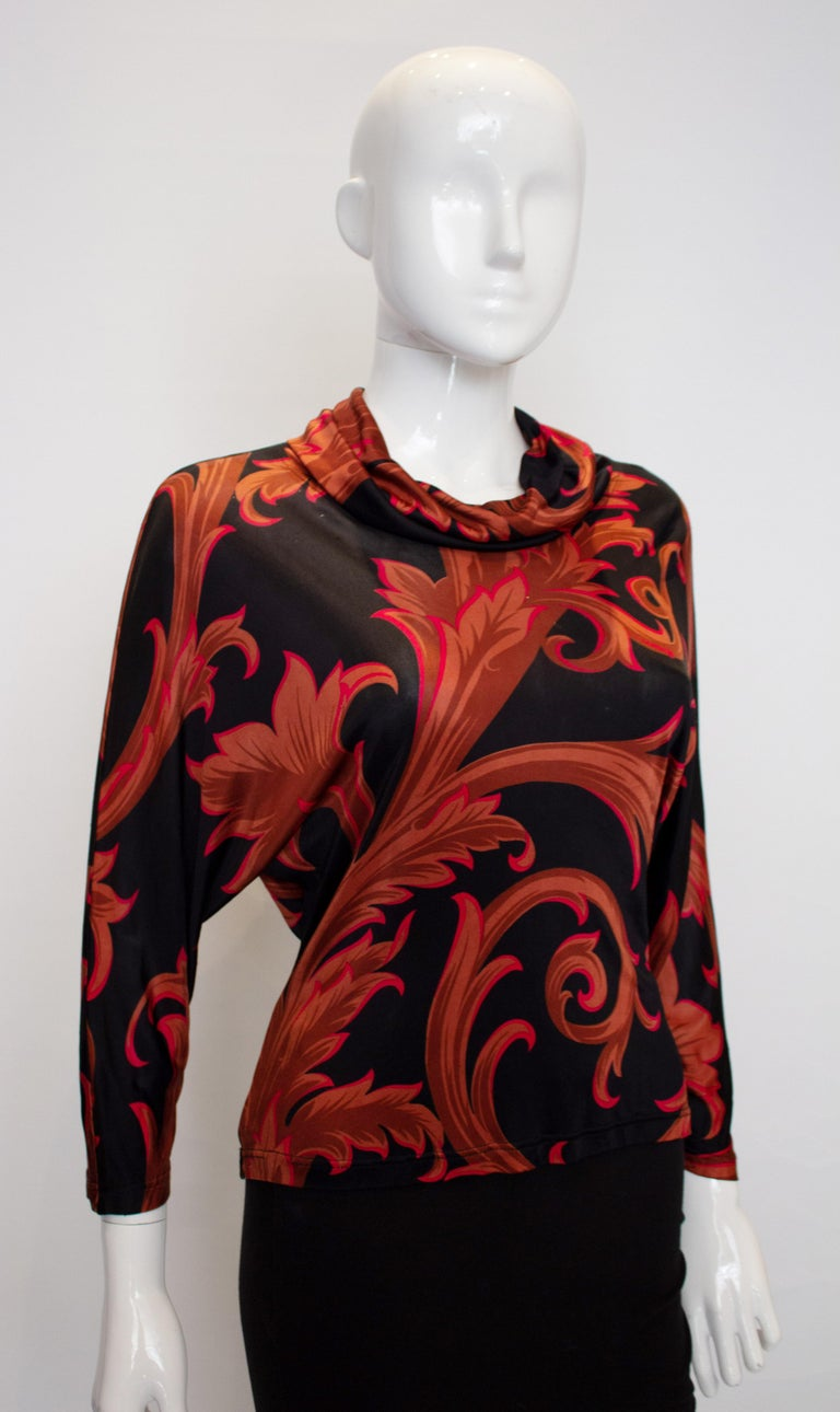Vintage Versace Couture Top For Sale 2