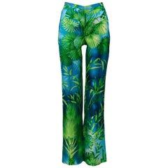 Vintage Versace Iconic Jungle Print Silk Pants 2000