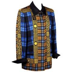Vintage Versace Jacket Wool Milan, Italy, 1990s