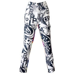 Vintage VERSACE JEANS COUTURE Manhattan New York City Graffiti Prints Pants