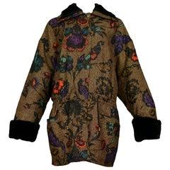 Vintage Versace Metallic Floral Coat