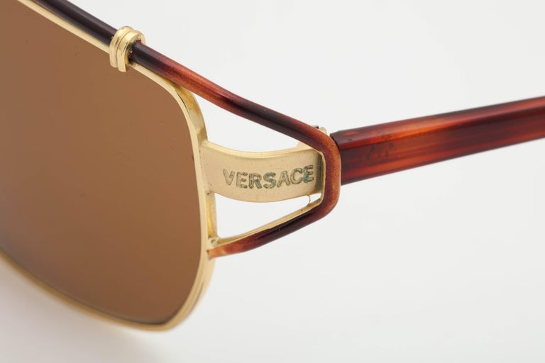 Vintage Versace Mod S 36 Sunglasses  In Excellent Condition For Sale In Chicago, IL