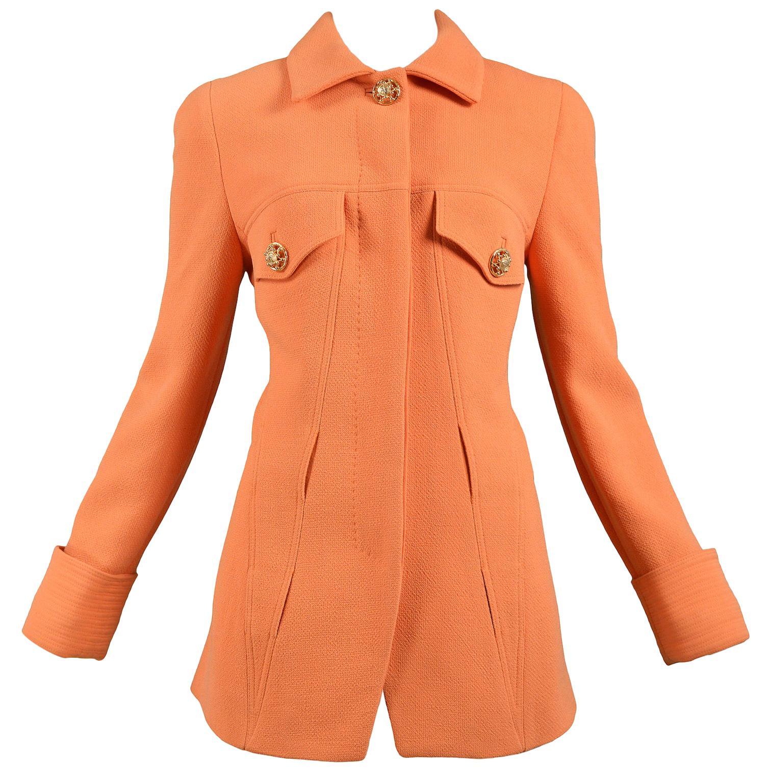 Vintage Versace Orange Blazer Jacket 1991