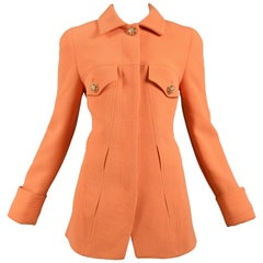 Vintage Versace Orange Blazer Jacket 1991