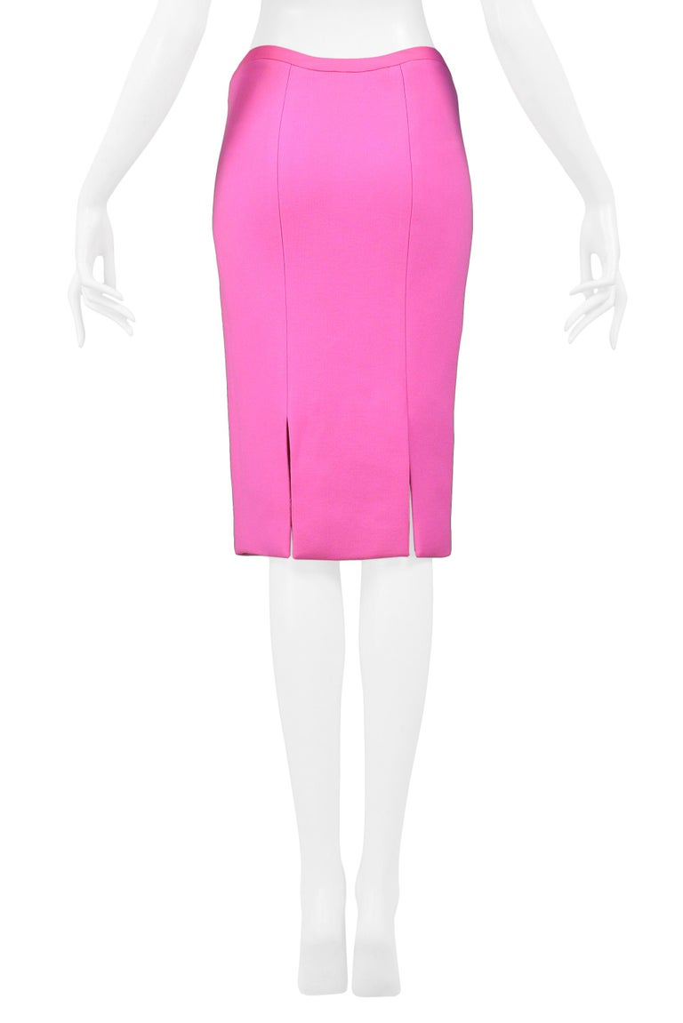Women's Vintage Versace Pink Pencil Skirt 2002 For Sale