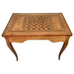 Vintage Versatile Chess & Backgammon Game Table