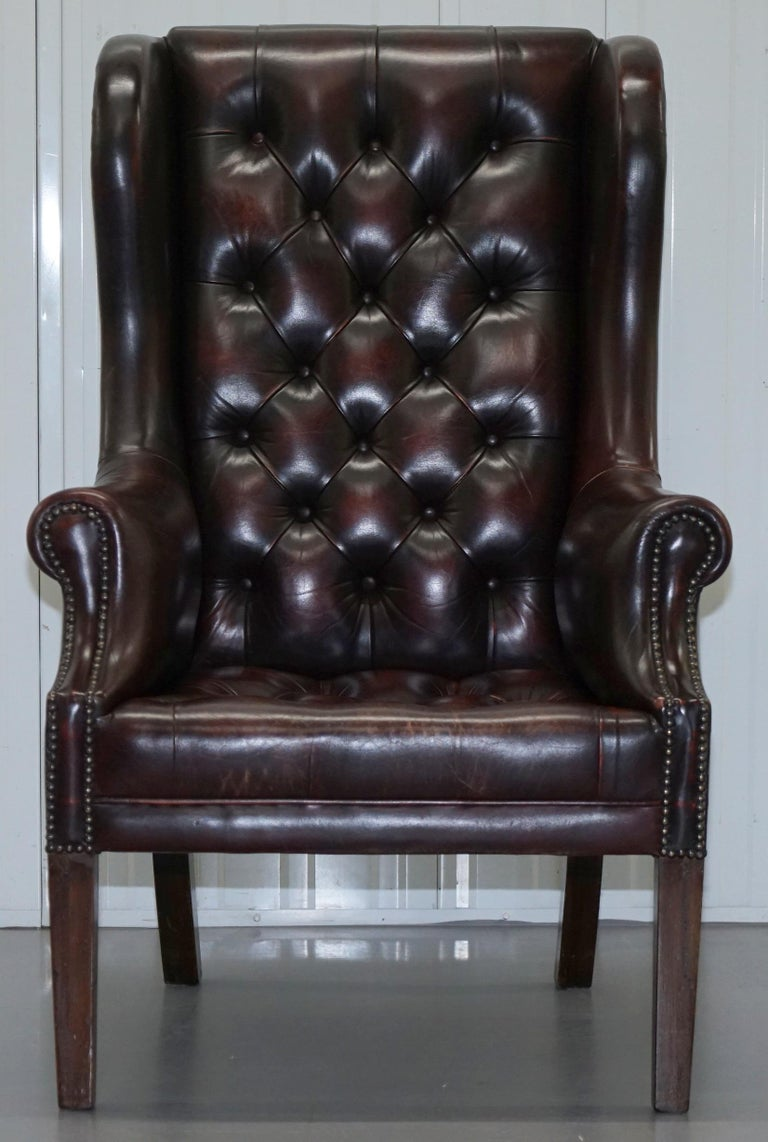Vintage Very Stylish High Back Chesterfield Oxblood ...