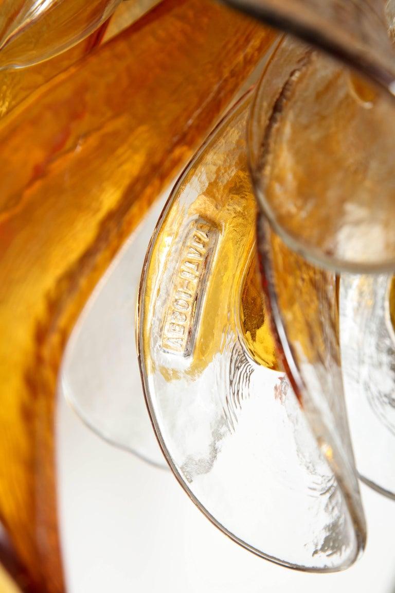 Vintage Vesoi-Italy Murano Glass Chandelier, circa 1980s For Sale 3