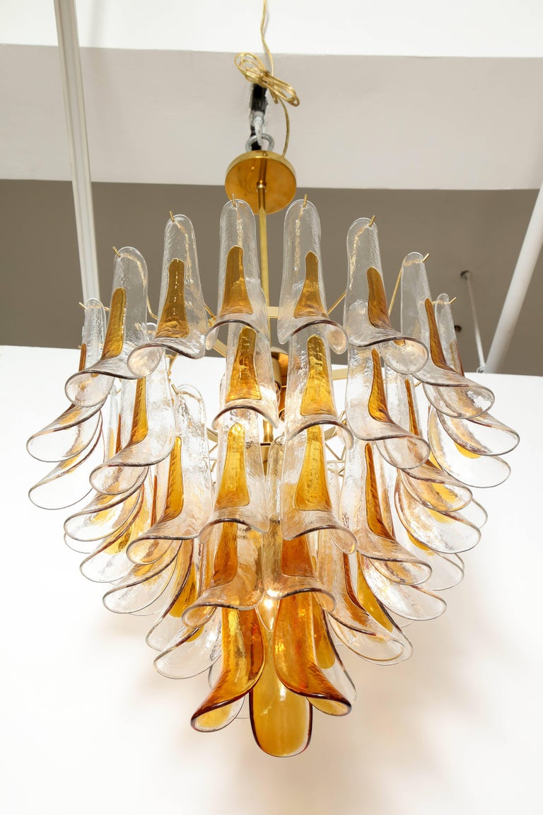 20th Century Vintage Vesoi-Italy Murano Glass Chandelier, circa 1980s For Sale