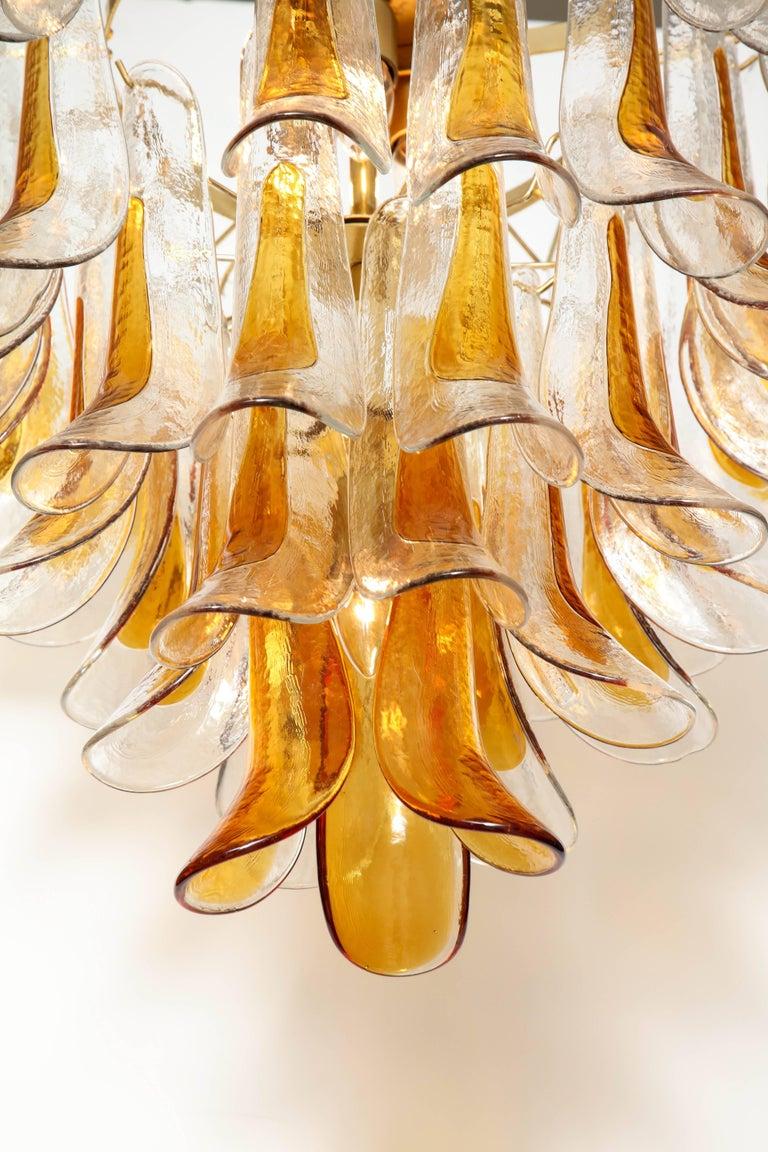 Metal Vintage Vesoi-Italy Murano Glass Chandelier, circa 1980s For Sale