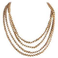 Antique Victorian 10 Karat Gold Necklace