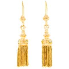 Vintage Victorian Gold Tassel Earrings