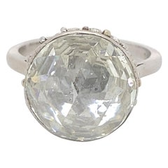Vintage Victorian Style Approximate 7.50 Carat Rose Cut Diamond Ring