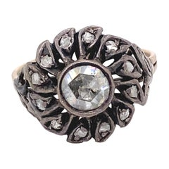 Vintage Victorian Style Apx 0.50 Carat Rose Cut Diamond Ring