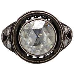 Vintage Victorian Style Apx 3.25 Carat Rose Cut Diamond Ring