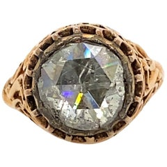 Vintage Victorian Style Apx 3.50 Carat Rose Cut Diamond Ring