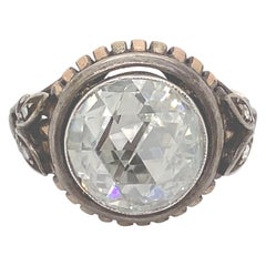 Vintage Victorian Style Apx 4.50 Carat Rose Cut Diamond Ring