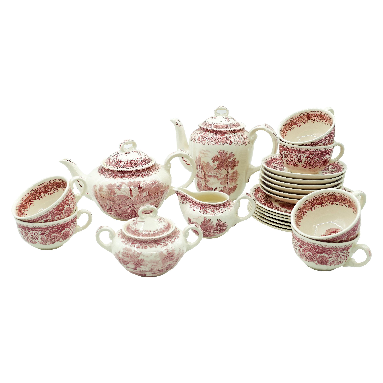 Vintage Villeroy and Boch Tea Set, 1950s