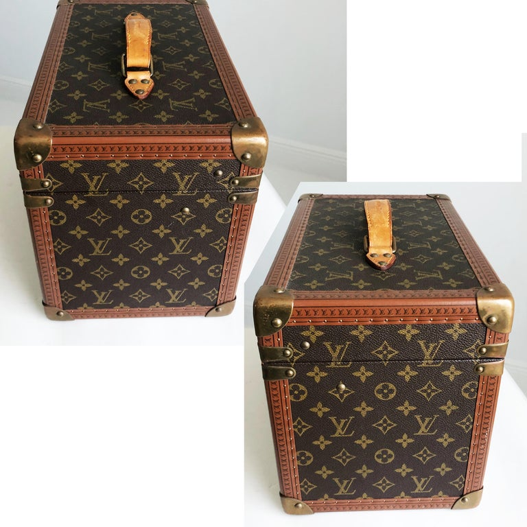 Louis Vuitton Boite Pharmacie Monogram Train Case Vanity Travel Bag Vintage 80s  In Good Condition For Sale In Port Saint Lucie, FL