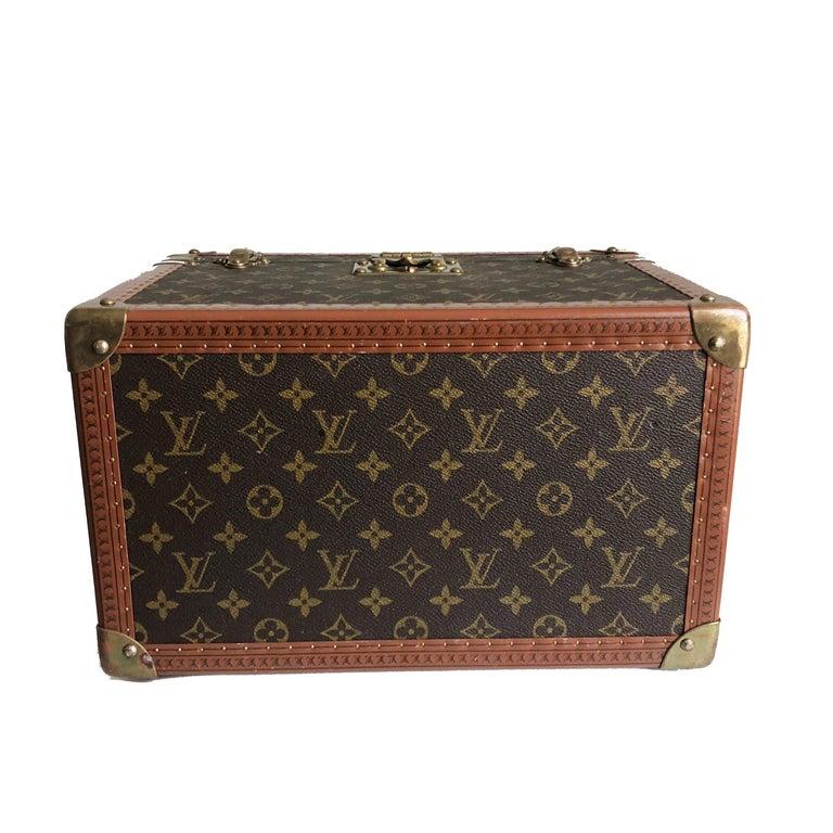 Louis Vuitton Boite Pharmacie Monogram Train Case Vanity Travel Bag Vintage 80s  For Sale 1