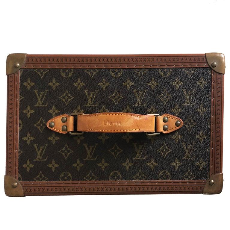 Louis Vuitton Boite Pharmacie Monogram Train Case Vanity Travel Bag Vintage 80s  For Sale 2