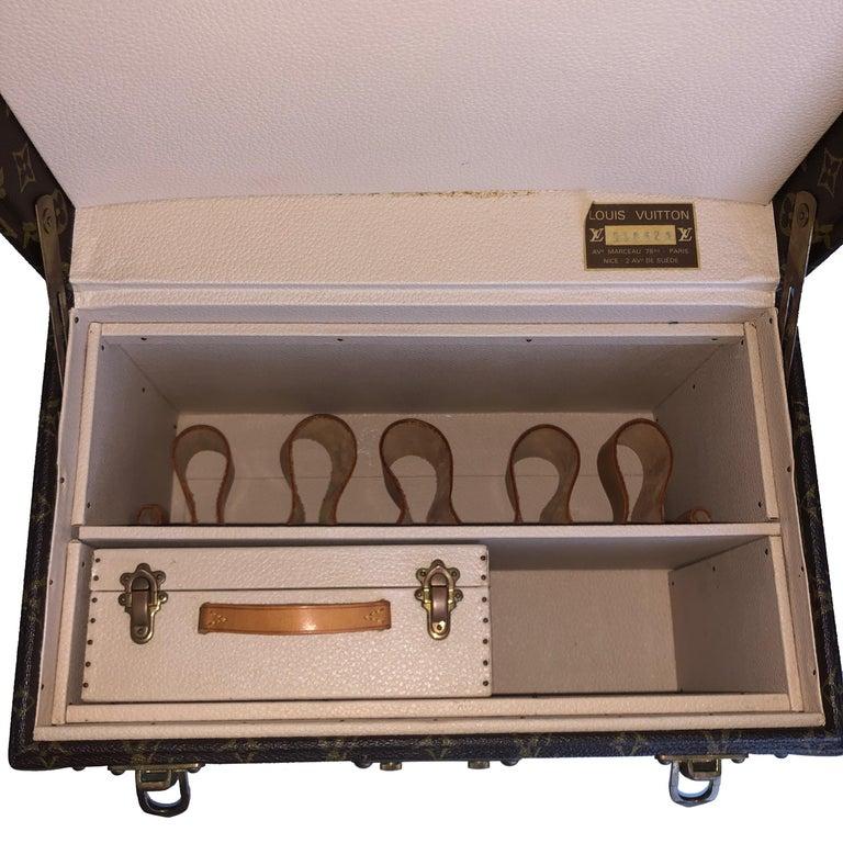 Louis Vuitton Boite Pharmacie Monogram Train Case Vanity Travel Bag Vintage 80s  For Sale 4