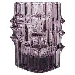Vintage Violet Vase by Vladislav Urban, Sklo Union, 20th Century, Europe, 1960s