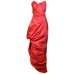 Vintage Vivienne Westwood Hot Pink Corset Gown