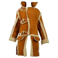 Vintage Vivienne Westwood Malcolm McLaren Suede Shearling Buffalo Coat 1993