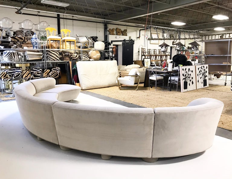 Vintage Vladimir Kagan for Directional Cloud Sofa Restored in Loro Piana  Velvet