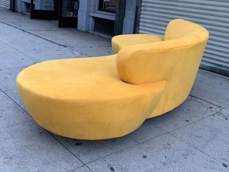 Vintage Vladimir Kagan for Directional, Serpentine Sofa For Sale 6
