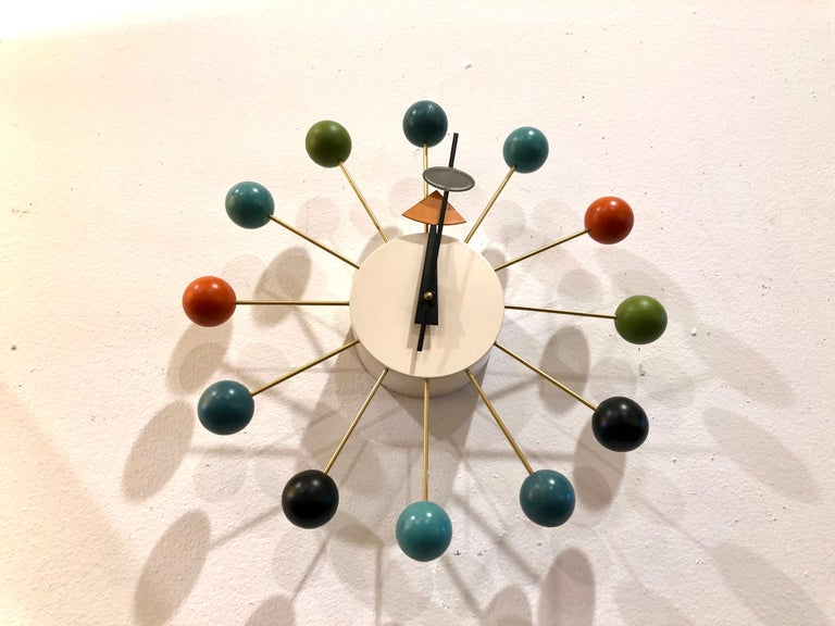 Mid-Century Modern Vintage Wall Ball Clock Designed by George Nelson for Vitra