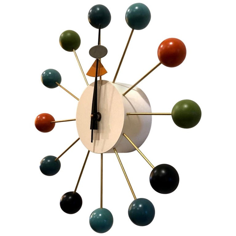 Vintage Wall Ball Clock Designed by George Nelson for Vitra