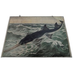 Vintage Wall Chart Poster Print Sawfish Maritime Decor